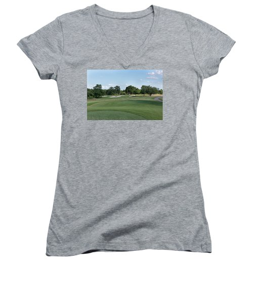 Hole #9 Women's V-Neck (Athletic Fit)