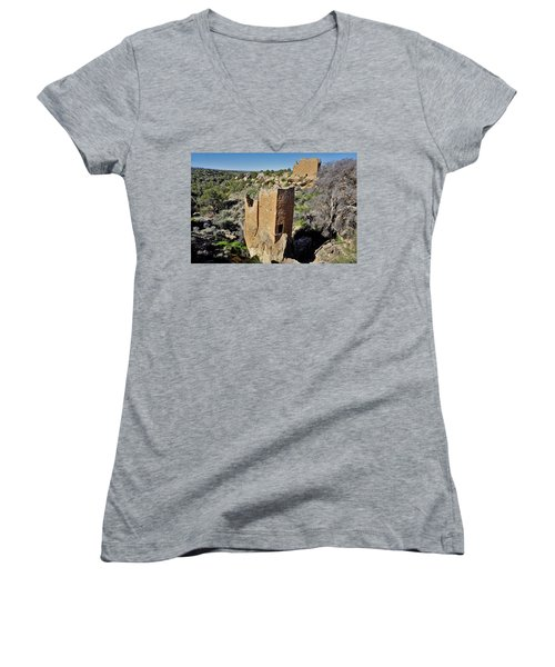 Holly Tower At Hovenweep Women's V-Neck