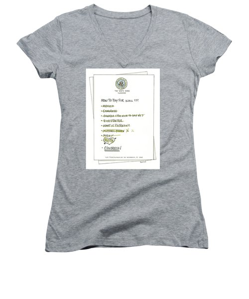How To Pay For Wall  Women's V-Neck