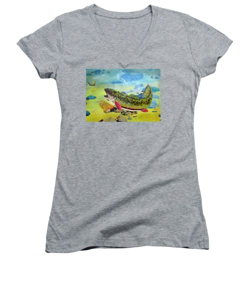 Hungry Trout Women's V-Neck