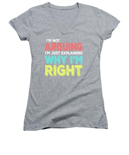 I'm Right Women's V-Neck