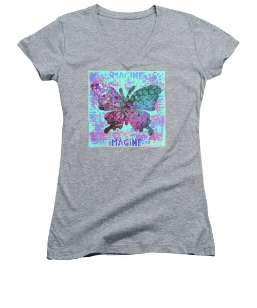 Imagine Butterfly 2 Women's V-Neck