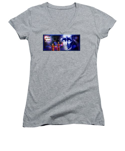 Imagine - What Is Out  There Women's V-Neck