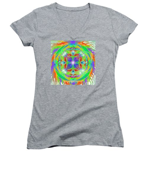 Indian Mandala Women's V-Neck