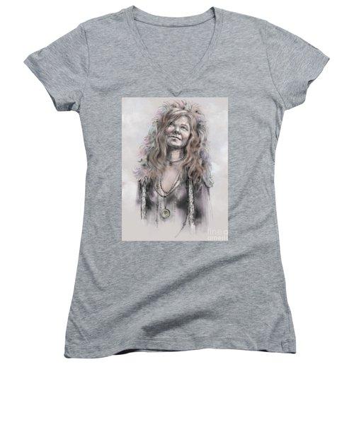 Janis Joplin Women's V-Neck