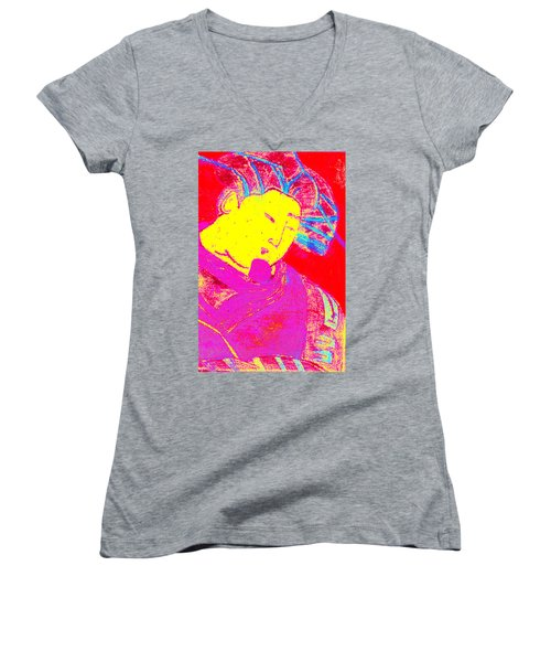 Japanese Pop Art Print 9 Women's V-Neck