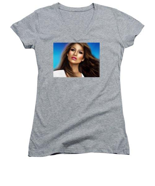 Jennifer Lopez Women's V-Neck