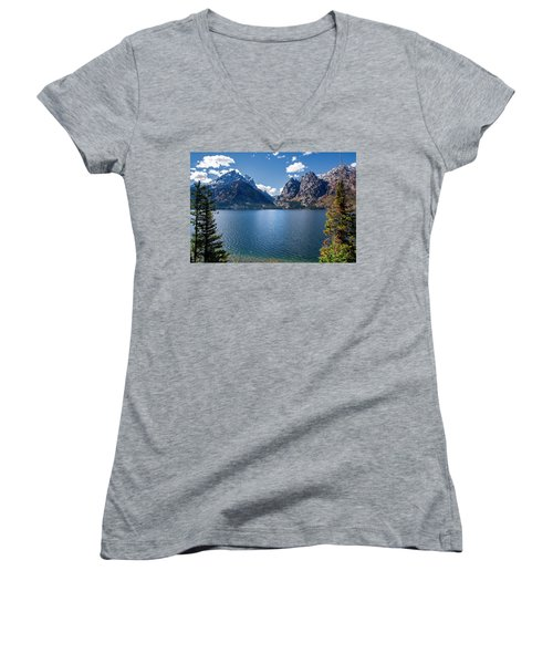 Women's V-Neck featuring the photograph Jenny Lake by Scott Read