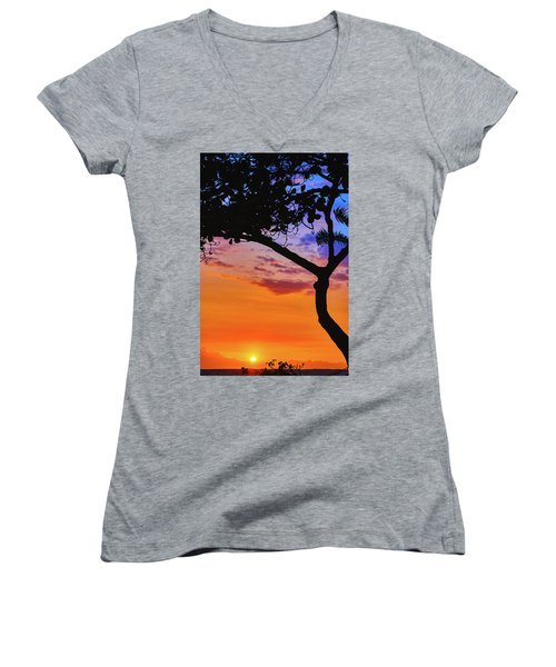 Just Another Kona Sunset Women's V-Neck