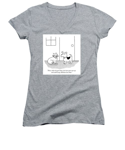 Just Turn Your Nose Up And Walk Away Women's V-Neck