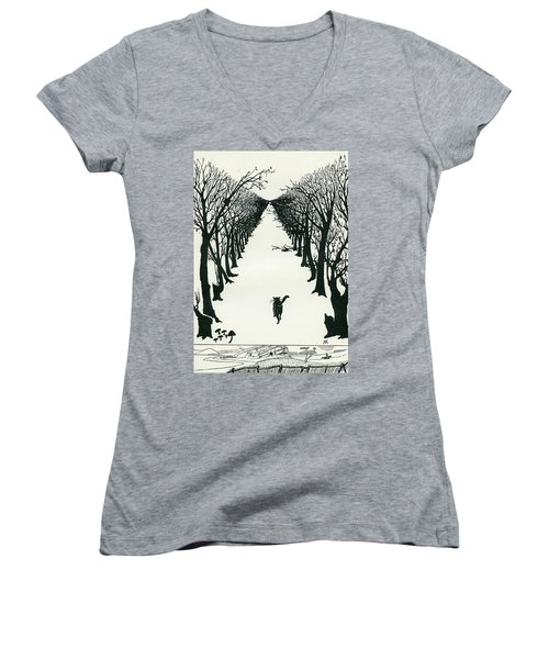 The Cat That Walked By Himself Women's V-Neck