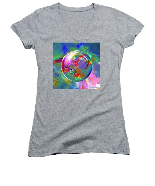 Koi Pond In The Round Women's V-Neck