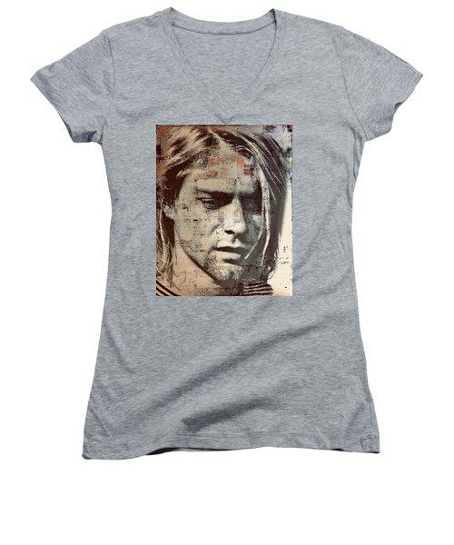 Kurt Cobain Women's V-Neck