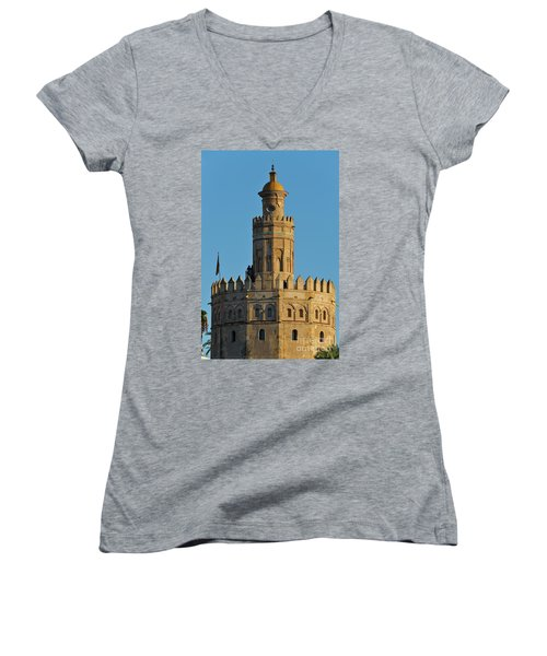 La Torre De Oro Detail. Seville Women's V-Neck