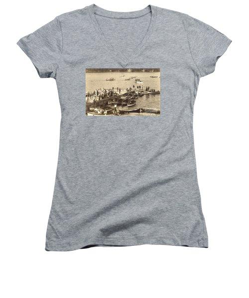 Lake Hopatcong Yacht Club Dock - 1910 Women's V-Neck