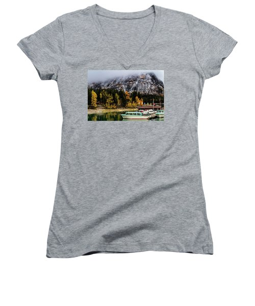 Lake Minnewanka, Banff National Park, Alberta, Canada Women's V-Neck