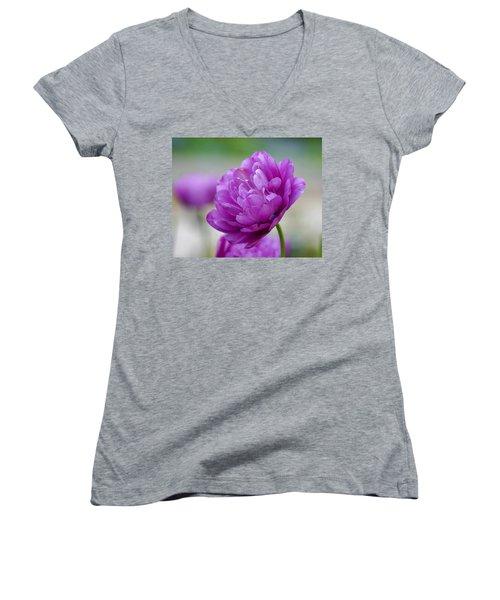 Lavender Tulip Women's V-Neck