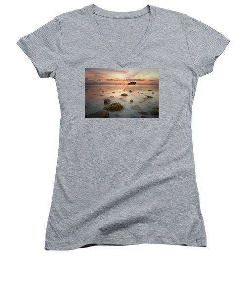 Malibu Sunset Women's V-Neck