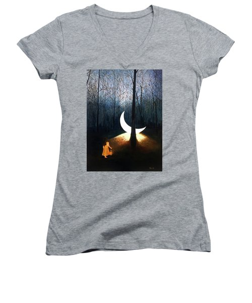 L'il Luna Women's V-Neck