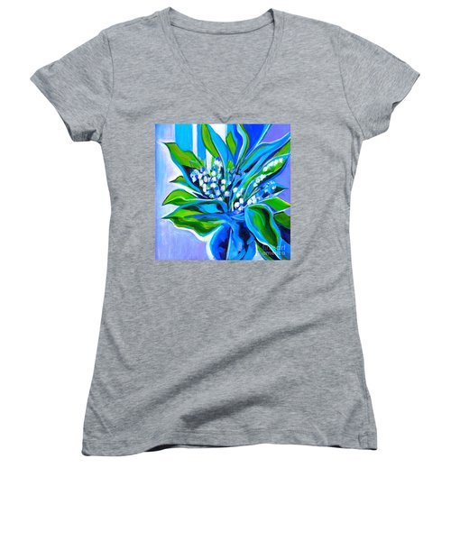 Lily Of The Valley Women's V-Neck