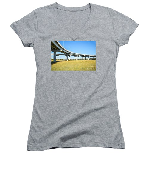 Long Concrete Bridge  Women's V-Neck