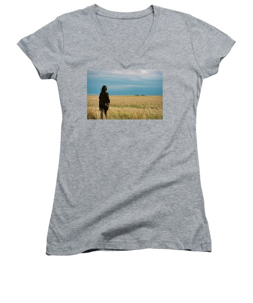 Look To The West Women's V-Neck