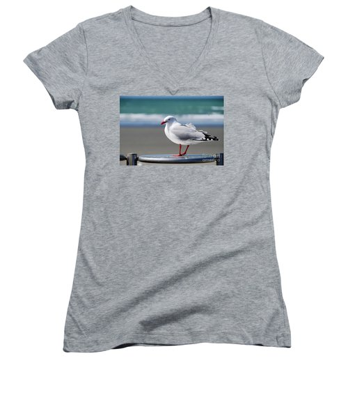 Looking For A Handout Women's V-Neck