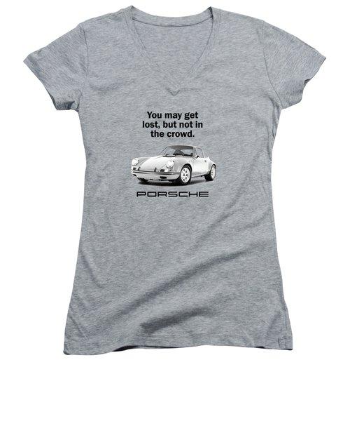 Lost In A Porsche Women's V-Neck