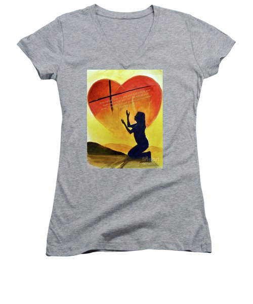 Love The Lord Women's V-Neck