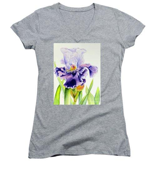 Lovely Iris Women's V-Neck