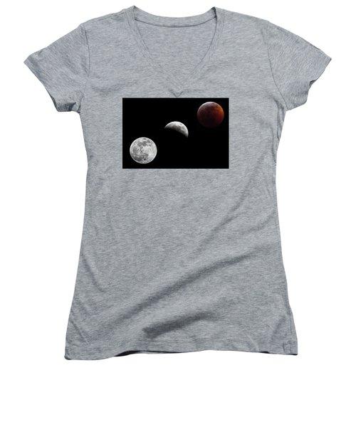 Lunar Eclipse Women's V-Neck
