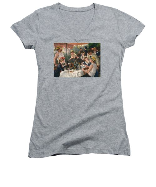 Luncheon Of The Boating Party, 1880-1881 Women's V-Neck
