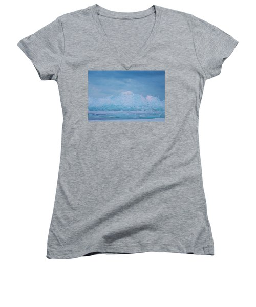 Mackinaw City Ice Formations 2161802 Women's V-Neck