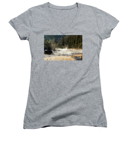 Madison River Morning Women's V-Neck