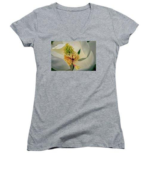Magnolia Blossom Women's V-Neck