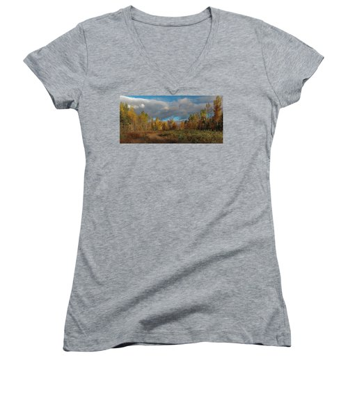 Women's V-Neck featuring the photograph Maine Wilderness Color 2 by Rick Hartigan