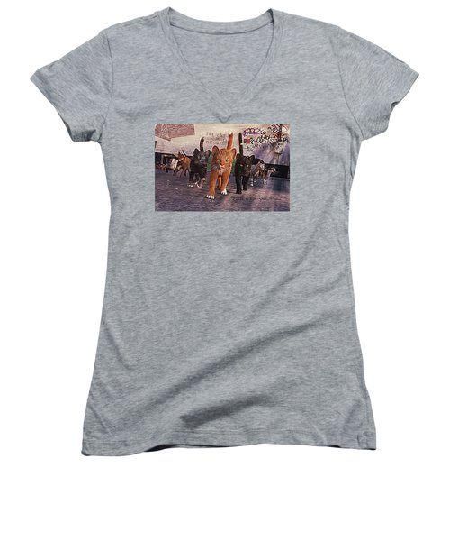 March Of The Mau Women's V-Neck