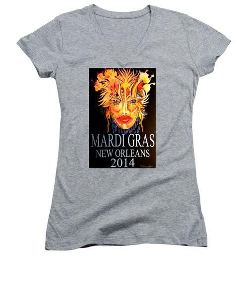 Mardi Gras Lady Women's V-Neck