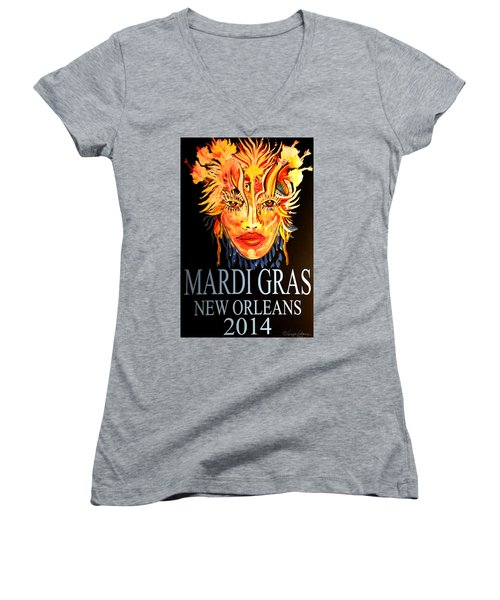 Mardi Gras Lady Women's V-Neck