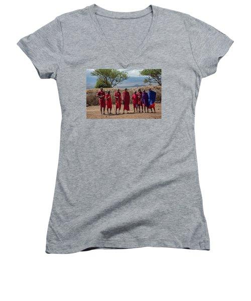 Maasai Men Women's V-Neck