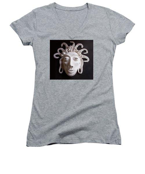 Mask The Aztec Women's V-Neck