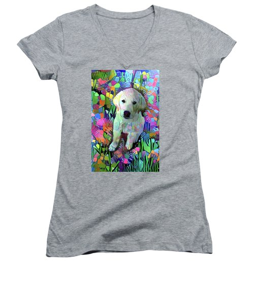 Max In The Garden Women's V-Neck
