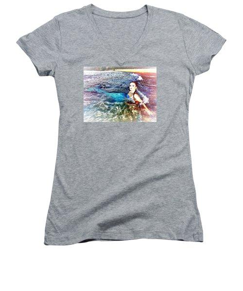 Mermaid Shores Women's V-Neck