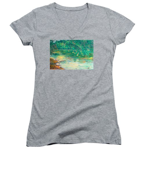 Mid-spring On The New River Women's V-Neck