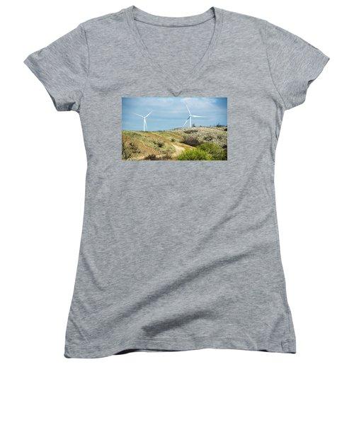 Modern Windmill Women's V-Neck