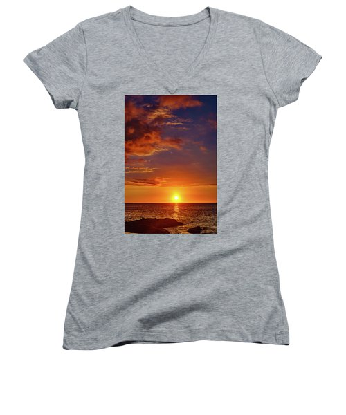 Monday Sunset Women's V-Neck