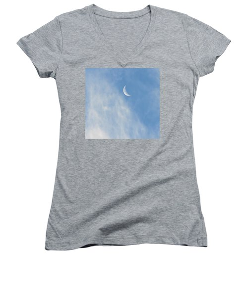 Moon In Libra - Crescent Farewell Women's V-Neck