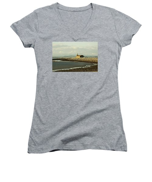 Morecambe. The Stone Jetty. Women's V-Neck