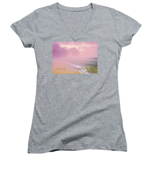 Morning Hour By The Seashore In Dreamland Women's V-Neck