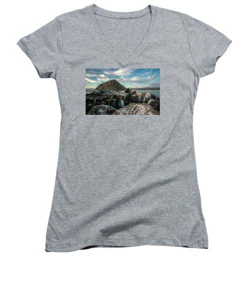 Morro Rock Breakwater Women's V-Neck